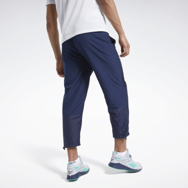 Men Hiking Blue Woven Pants