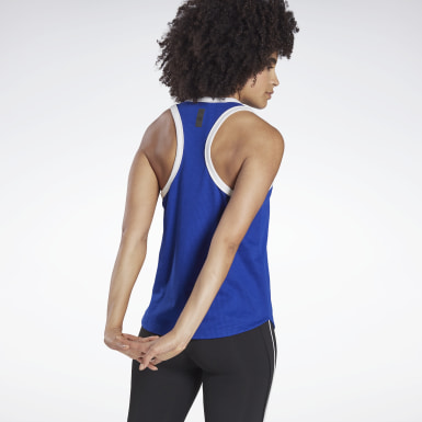 Women Studio Blue LES MILLS® Sleeveless Tee