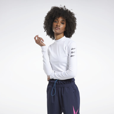 Top MYT Long Sleeve Bianco Donna Fitness & Training
