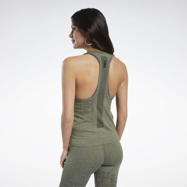 Canotta United By Fitness MyoKnit Seamless Verde Donna HIIT