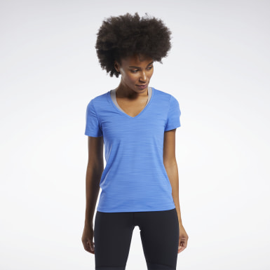 Dames Fitness & Training Blauw ACTIVCHILL T-shirt