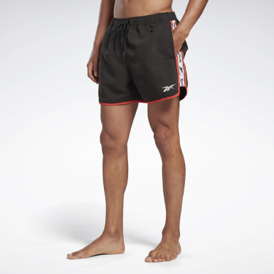 Men Swimming Black Reebok Sumner Swim Shorts