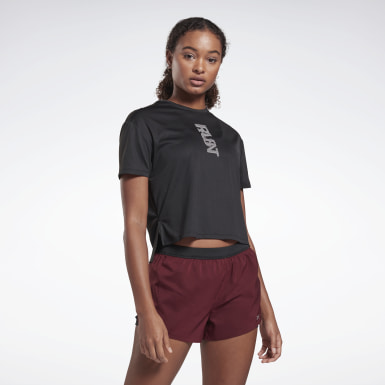Women Terrengløping Black Run Essentials Run Fast Tee