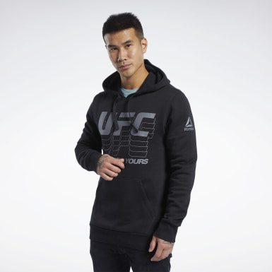 Men Fitness & Training Black UFC Fan Gear Hoodie