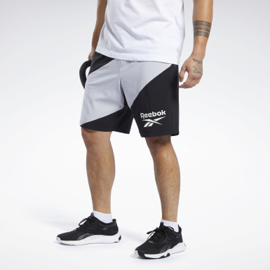 Men Training Black Workout Ready Graphic Shorts