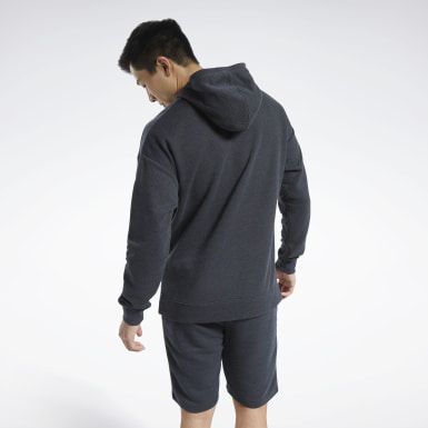 Herr Fitness & Träning Svart Training Essentials Mélange Hoodie
