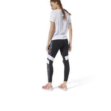 Lux Legging - Color Block Gespikkeld