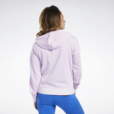 Women Yoga Pink Training Essentials Full-Zip Hoodie