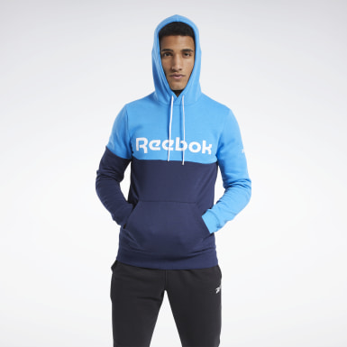 Männer Fitness & Training Training Essentials Logo Hoodie Blau