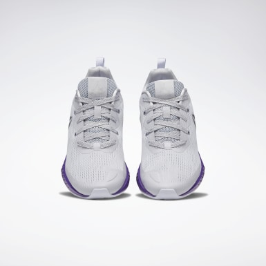 Girls Running Grey Flashfilm Shoes - Grade School