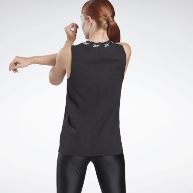 Women Yoga Black Studio Performance Tank Top - High Intensity