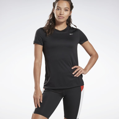 Women Running Black Running Essentials Speedwick Tee