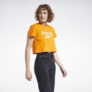 Women Classics Orange Classics Big Logo T-Shirt