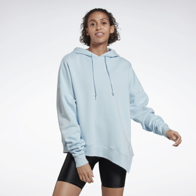 Women Yoga Blue Studio Cozy Fashion Hoodie