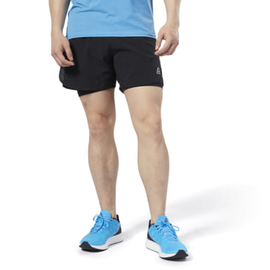 Men Running Black One Series Running Epic 2-in-1 Shorts