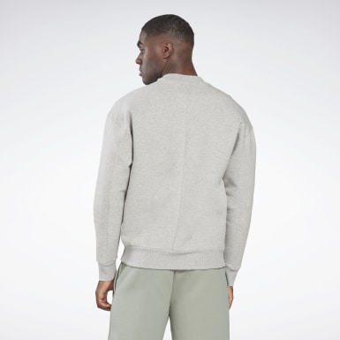 Men Fitness & Training Grey DreamBlend Cotton Crewneck Sweatshirt