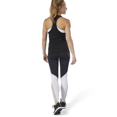Legging Lux motif color-block Noir Femmes Fitness & Training