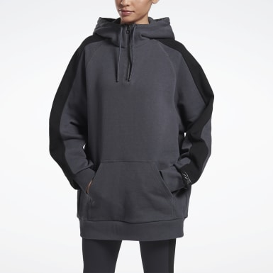 Sudadera VB Oversize Gris Mujer Fitness & Training
