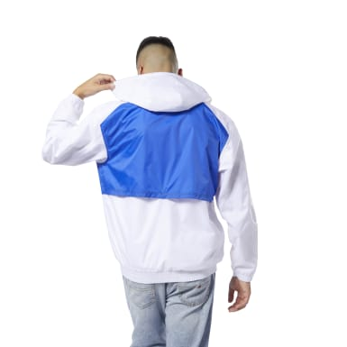 Men Classics White Classics Vector Windbreaker