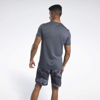 Men Cross Training Black Workout Ready Mélange Tee