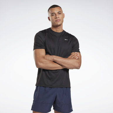 Men Trail Running Black Running Essentials Shirt