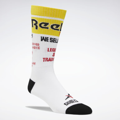 Classics White Classics We Sell Gold Crew Socks