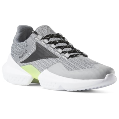 Running Grey Reebok Split Fuel Shoes