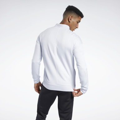 Men Training White Speedwick Layering Track Jacket