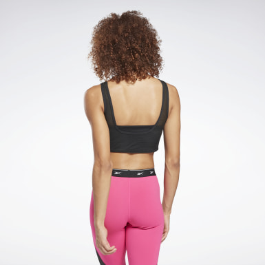 Women Studio Black Studio Mesh Sports Bra