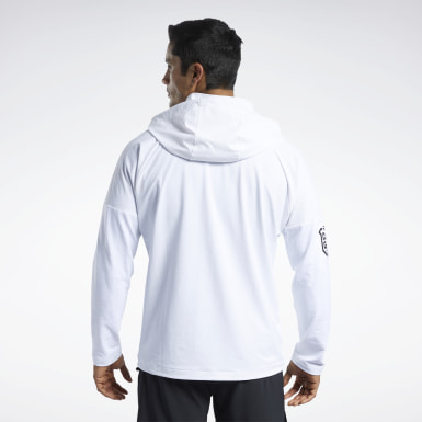 Men Training White CrossFit® Control Hoodie