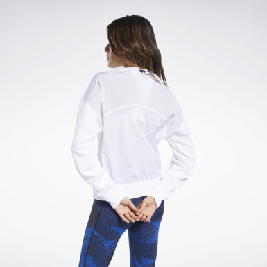 Felpa Midlayer Crew Bianco Donna Fitness & Training