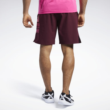 Men Training Burgundy Reebok CrossFit®  Epic Base Large Branded Shorts