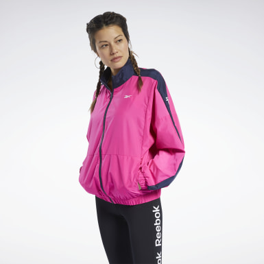 Frauen Fitness & Training Training Essentials Woven Linear Logo Jacket