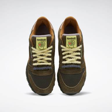 Classics Green Brain Dead Classic Leather Shoes