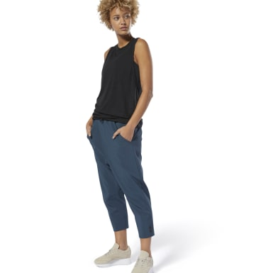 Pantaloni Training Supply 7/8 Blu Donna Fitness & Training