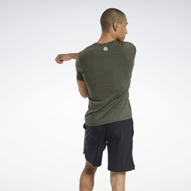 Men Cross Training Green Reebok CrossFit® ACTIVCHILL Tee