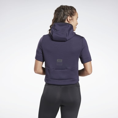 Women Running Purple Night Run Hoodie