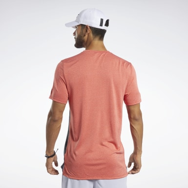 Men Studio Red Workout Ready Melange Tee