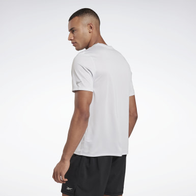 Men Terrengløping White Run Essentials Run Fast Tee