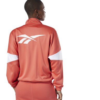 Women Classics Orange Classics Vector Track Jacket