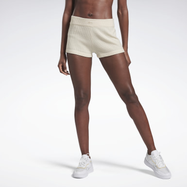 Shorts VB Knitted Blanco Mujer Fitness & Training