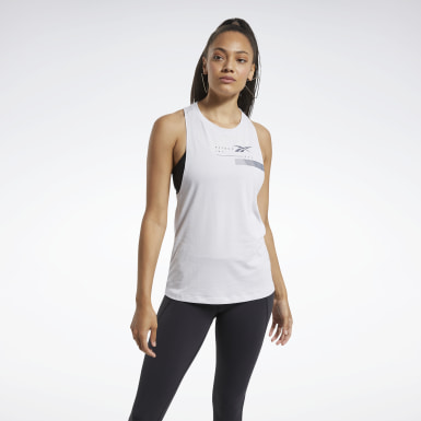 Women Hiking White ACTIVCHILL+COTTON Graphic Tank Top
