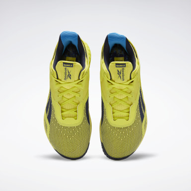 Men Training Yellow Reebok Nano X Shoes