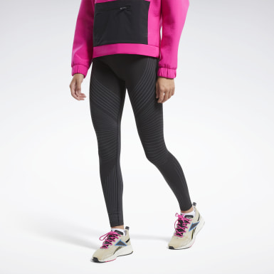 Dames Wandelsport Zwart Thermowarm Seamless Legging