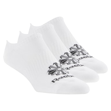 Classics White Classic Footwear Invisible Sock - 3Pack