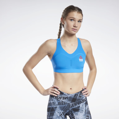 Women Training Blue CrossFit® Games PureMove+ Bra Motion Sense ™