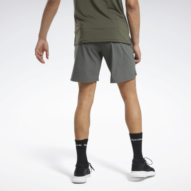 Men Training Green Textured Epic Shorts