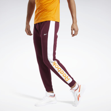 Pantalón de chándal Training Essentials Linear Logo Burgundy Hombre Fitness & Training