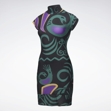 Reebok by Pyer Moss Mesh Allover Print Sankofa Dress
