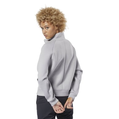 Women Training Grey Training Supply Cowl Neck Top
